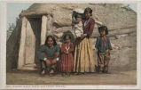 """Navaho Indian Family and Hogan, Arizona"""