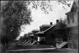 Doctor's Row which housed the military doctors who operated the sanatorium, Fort Bayard, New Mexico