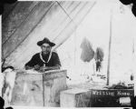 Rough Rider soldier writing home during Spanish-American War