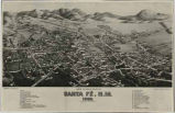 """Bird's Eye View of the City of Santa Fe, New Mexico"""