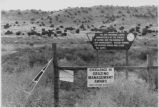 Bureau of Land Management grazing land administered by the Acoma Pueblo, 35 miles Southwest of...