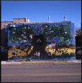 Mural on building behind Museum of Fine Arts, Sheridan Street, Santa Fe, New Mexico