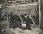 Navajo women weaving, New Mexico