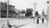 May Day Parade on Palace Avenue in front of Delgado House, Santa Fe, New Mexico