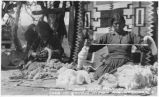 """Spinning Wool into Yarn to be used in Navajo Indian Rug Weaving"""
