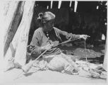 Navajo weaver, Charles L. Bernheimer Expeditiion