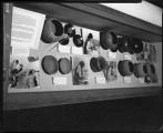 Pottery exhibit, Laboratory of Anthropology, Santa Fe, New Mexico