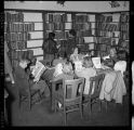 Children in the Public Library reading room, Santa Fe, New Mexico