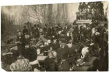 Governor William C. McDonald making Inaugural Address on the steps of the Capitol, Santa Fe, New...