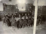 Classroom at United States Indian School, Santa Fe, New Mexico