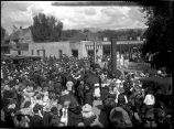 Crowd on the Plaza, Santa Fe Fiesta, New Mexico