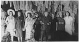 Superintendent Thomas Boles with group of visitors, Carlsbad Caverns, New Mexico
