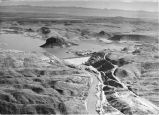 Aerial view of Elephant Butte Dam on the Rio Grande, Sierra County, New Mexico
