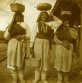 Unidentified women, Isleta Pueblo Station, New Mexico
