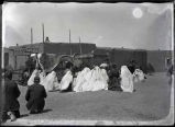 Religious ceremony outdoors, Mora (?), New Mexico