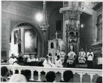 Archbishop Edwin V. Byrne during mass at Saint Francis Cathedral, Santa Fe, New Mexico
