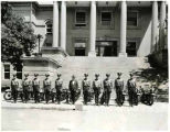 Inauguration of New Mexico Motor Patrol on State Capitol steps, Santa Fe, New Mexico, August 5,...