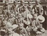 Mescalero Apache schoolboys, New Mexico