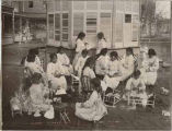 Schoolgirls at United States Indian School, Santa Fe, New Mexico