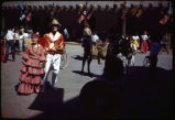 Couple in front of Palace of the Governors, Santa Fe Fiesta, New Mexico
