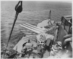 Guns on the USS New Mexico