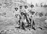 Unidentified group of railroad workers, New Mexico