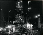 Malco Refining Company asphalt plant at night, Artesia, New Mexico