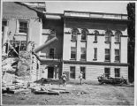 Demolition of facade of the State Capitol building before major renovations, Santa Fe, New Mexico