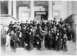 Congressional party on the steps of the State Capitol, Santa Fe, New Mexico