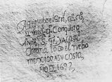 1692 inscription  by Don Diego de Vargas, Inscription Rock, El Morro National Monument, New Mexico