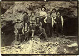 Group of miners and mill boys, Bridal Chamber Mine, Lake Valley, New Mexico