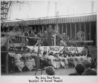 Architect John Gaw Meem speaking at the dedication of Saint Vincent's Hospital, Santa Fe, New...