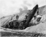 Steam shovel loading ore at the Chino Copper Company mine, Santa Rita, New Mexico