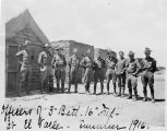 Officers of the 3rd Battalion, 16th Infantry, at El Valle, Mexico