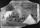 Angus V.V. Ranch chuckwagon and roundup camp on the Ruidoso, New Mexico