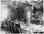 Dining room at Harvey's Ranch decorated for Christmas, New Mexico