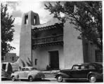 Entrance to Saint Francis Auditorium, Fine Arts Musuem, Santa Fe, New Mexico