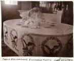 Table decorated to celebrate proposed statehood at Royal Prentice home, Tucumcari, New Mexico