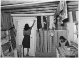 Interior of Weaving Project shop, Costilla, New Mexico