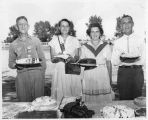 Participants in the Bosque Farms Community Fair cake and pie baking contest, Bosque Farms, New...