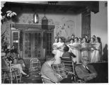 Singing group entertaining guests at La Fonda Hotel, Santa Fe, New Mexico