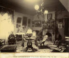 Parlor, Palace of the Governors when occupied by Governor L.B. Prince, New Mexico