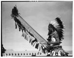 """A Comanche dancer from San Ildefonso Indian Pueblo. January 1940"""
