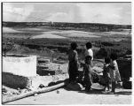 """Laguna Indian Pueblo, located 50 miles west of Albuquerque, New Mexico, children on..."