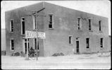 Hoover Hotel, damaged by Villa bandits in raid, Columbus, New Mexico
