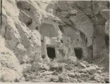 Cliff dwellings, Otowi Ruin, Pajarito Plateau, New Mexico