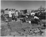 Archaeologists during excavation of First Interstate Plaza site, Washington Avenue, Santa Fe, New...