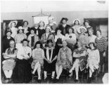 Men's group in women's clothes for special event, Tucumcari, New Mexico