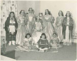 1957 Fiesta Queen Maria Ida Sanchez and her court, Santa Fe Fiesta, New Mexico