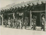 """Kearny's Staff"" in front of the Palace of the Governors, Santa Fe Fiesta, New Mexico"